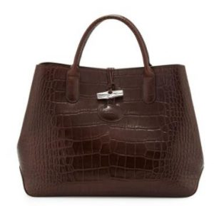 Longchamp Roseau Croco Tote bag
